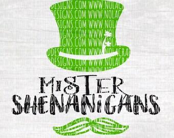 St. Patricks Day Svg Cut File - St. Paddy's Day Svg Cut File - Mr. Shenanigans Svg Cut File - Mister Shenanigans Svg Cut File - Boy svg