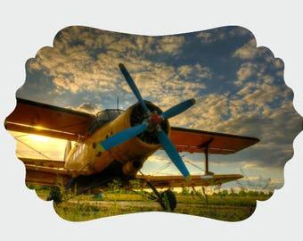 Plane UV Printed MDF Wall Decor, Wood Decor