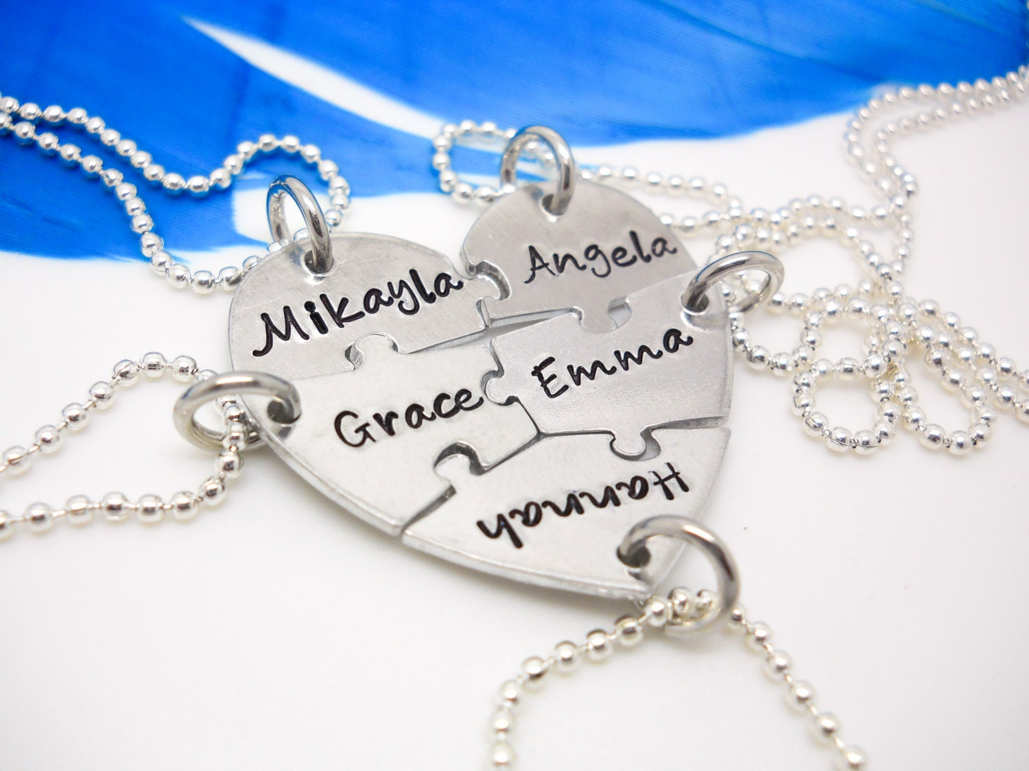 item silver in pendant forever letter fashion from puzzle gifts for necklace personalized set love chain sister heart friend vintage best necklaces
