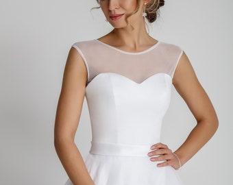 Bridal Top Tulle Bolero