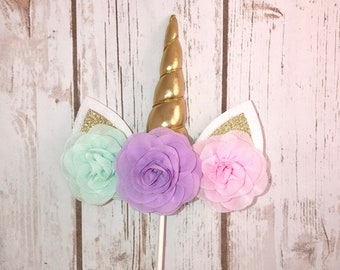 Unicorn Cake Topper, Birthday Cake, Unicorn Birthday Party, Unicorn Cake