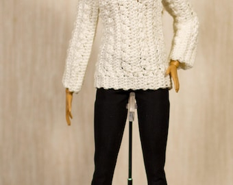 Handmade Barbie clothes Barbie crochet Handmade set for Barbie dolls,Fashion Royalty and other dolls with similar body size.