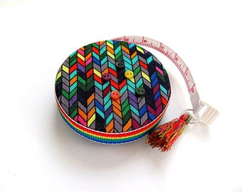 Measuring Tape Knit Rainbow Stitches Retractable Tape Measure