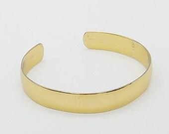 ON SALE Vintage Signed Napier Gold Tone Cuff Bracelet - Like New