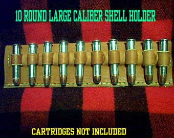 Leather Cartridge Belt slide holder, .45-70, .444, .450, .416, .458, .45 Colt, .410