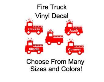 Fire Truck Vinyl Decal