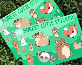 Kawaii Forest Animal Nuggets Sticker Sheets