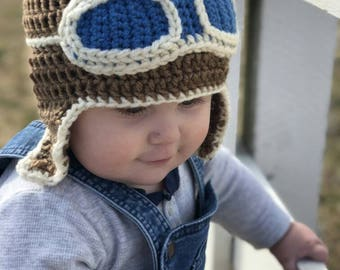 Pilot / Aviator Crochet Hat