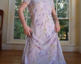 90's Sheer Lilac Dress