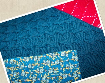 Green knit baby blanket
