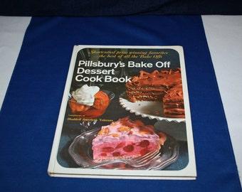 Vintage Pillsbury's Bake Off Dessert Cook Book Recipe Book Cookbook 1971 Cake Recipes Country Kitchen Homestead Cookies
