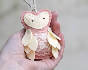 Owl Christmas Ornament. Expecting Mother Keepsake. Gift for New Mother. Felt Owl Ornament Handmade by OrdinaryMommy