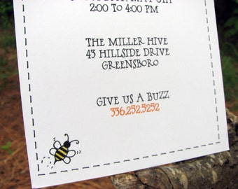 Insect Birthday Party Invitation