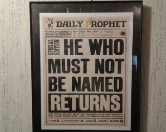 The daily prophet | Etsy