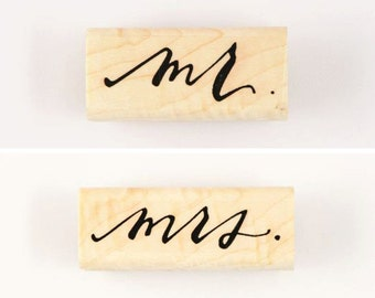 mr./mrs. stamps (set of two)