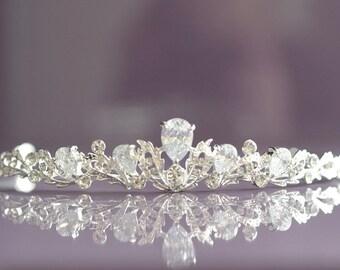 Bridal Tiara Wedding Tiara Diadem Hairpiece Rhinestone Tiara Rhinestone Crown Wedding Crown Crystal Headband Bridal Hair Piece Bridal Crown