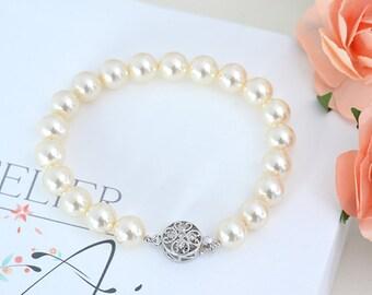 Bracelet bridal bracelet pearls Camille bracelet beads Swarovski element-bridal jewelry