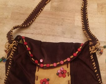 hippy bag, hobo bag, leather purse, leather bag