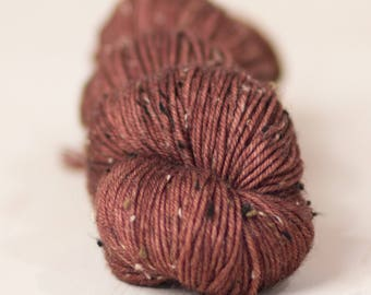 Koala // 8 ply yarn, DK yarn, super wash yarn, donegal yarn, hand dyed yarn, indie dyed yarn, brown yarn, limited edition bases yarn