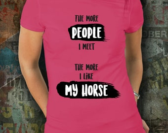 Horse shirt / womens horse riding tshirt / equestrian clothing / equestrian gifts / horse gifts / dressage / horse clothing