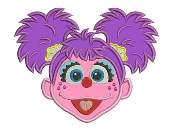 Abby Cadabby Applique Design 3 sizes instant download