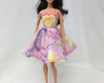 """Fairy Princess Dress-11.5"""" Doll Clothes-Butterfly Doll Dress-Fairy Dress-Doll Dress-Princess Dress-Prom Dress-Sparkly Doll Dress-Toys"""