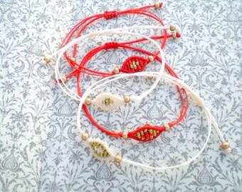 Witness pin Martyrika bracelets Christening favors Greek Orthodox baptism favors Macrame bracelets Eyes Party favors