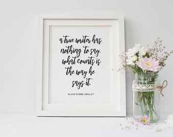 Printable Wall Art // Wall Art Quotes // Motivational Wall Art // Inspirational Quote Print // Writing Quotes // Digital Download