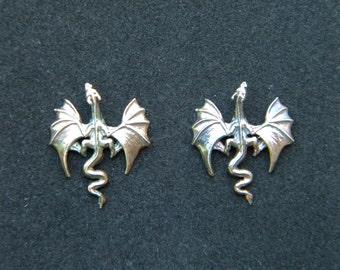 Sterling Silver Dragon Earrings k1ADSmtjNE
