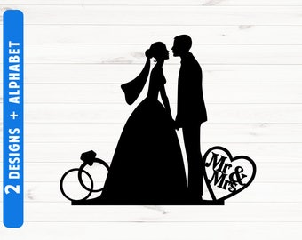 Wedding silhouette etsy wedding silhouette junglespirit Gallery
