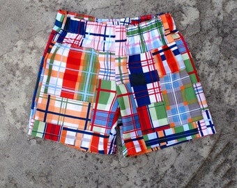Boy summer clothes, baby boy shorts, toddler clothes, Plaid shorts, summer outfit, little boy shorts, infant boy clothing
