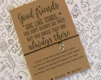 Good Friends Are Like Stars Wish String Good friends are like stars wish Bracelet