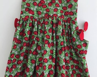 Cotton Ladybug Print Sundress Girls' Size 4T