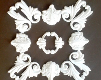 Plaster decoration - ceiling mirror - No. stucco. 5