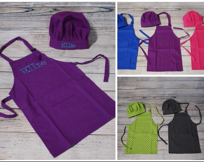 Personalized / Monogrammed Kid Apron With Chef Hat