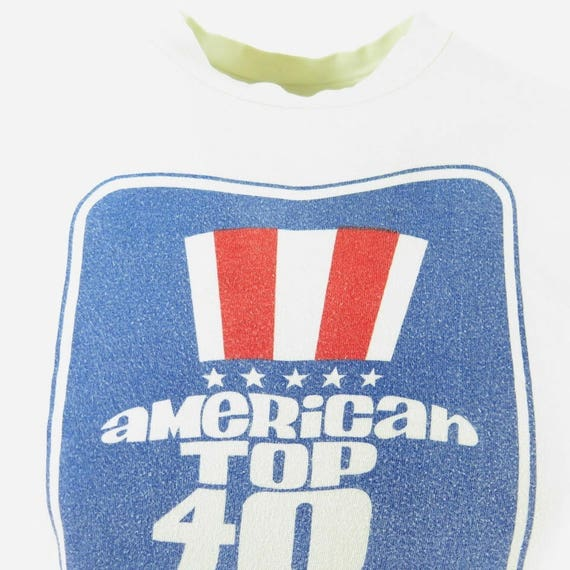 Mens Radio 80s Hanes American T 0 7 Top USA 40 H61O M Made Shirt Vintage qnFYawPx4a