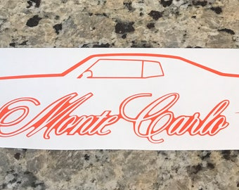 70-72 Monte Carlo Outline Decal