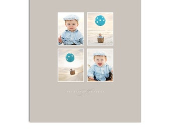Print Collage Template - 16X20 Vertical - Tribeca - 1329
