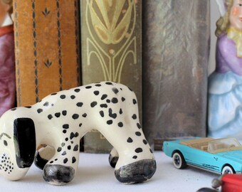 Dog Figurine, Childrens Room Decor, Kitsch Ornaments, Spotted Dog Figurine, Dalmatian Puppy Statuette, Dog Lover Gift