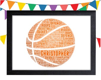 Personalized Gift Basketball Gift Basketball Wall Art Wall Prints Wall Art Wall Decor Basketball Team Gift Personalised Gift Wall Art Prints