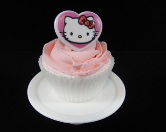 Hello Kitty Cupcake Ring, Party Favor, Cupcake Rings, Hello Kitty Party, Hello Kitty Party Favor, Hello Kitty Ring - Qty 12