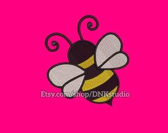 Cute Bee Embroidery Design - 6 Sizes - INSTANT DOWNLOAD