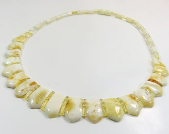 Luxurious Amazing 20.34 grams Royal White Natural Genuine BALTIC AMBER Necklace Choker
