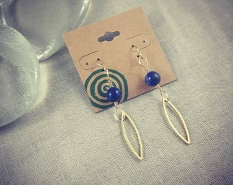 Gold and Lapis Lazuli Earrings