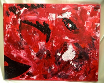 Original Razorback Acrylic Painting - Abstract Art 16 x 20