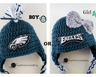 99f13ec6f ... hot handmade philadelphia eagles inspired crochet baby hat only boy or  girl style available football 953c0