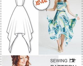 Dress Pattern - Dress Sewing Patterns - Sewing Tutorials - Maxi Dress Pattern - PDF Sewing Patterns - Sewing Projects - Sewing Patterns
