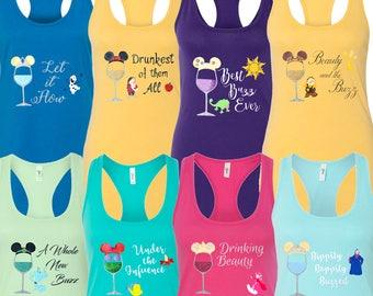 Disney Shirts for Women, Disney Shirt, Disney Drinking Shirt, Epcot Drink Around The World Shirt, Food and Wine Shirt, Disney Family Shirt