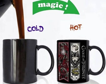Game Of Thrones mugs Tribal when its hot Color changes/color changing magic/ shows design when its hot. See pattern when it becomes hot