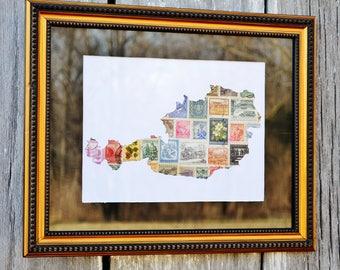 Austrian stamps, stamps of Austria, postage stamp art, stamp collector gift, international stamps, stamp outline map, stamps collection